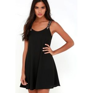 """Lulus """"TRIBUTE TO PERFECTION BLACK BEADED DRESS"""""""